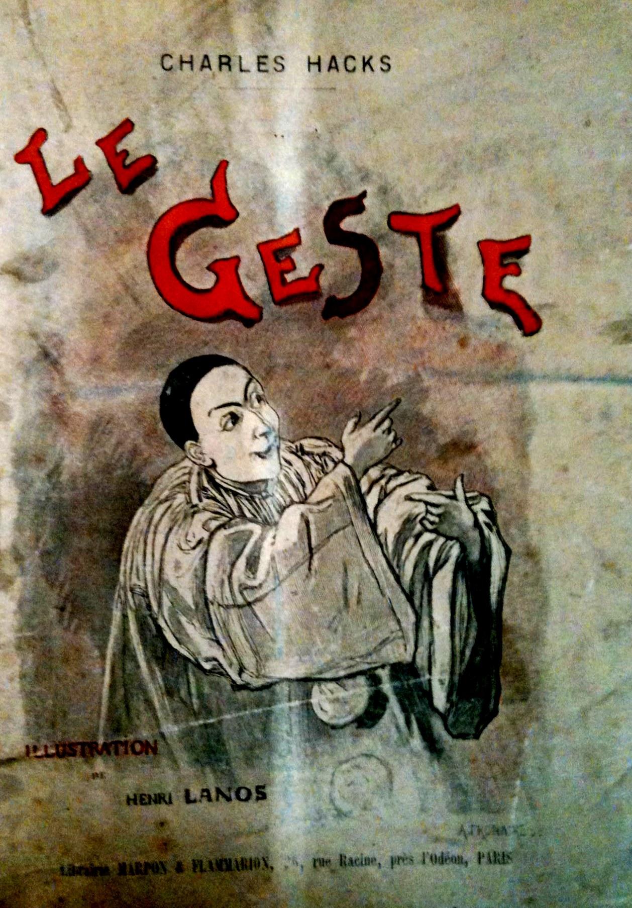 Hacks, Charles: Le Geste. 1892, Titelbild Pierrot